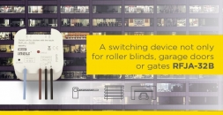 A switching device not only for roller blinds, garage doors or gates RFJA-32B solves numerous issues