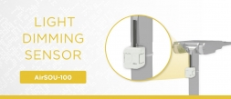 The AirSOU-100 light dimming sensor illuminates both streets and areas economically