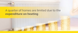 A quarter of homes are limited due to the expenditure on heating.