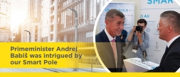 Primeminister Andrej Babiš was intrigued by our Smart Pole