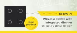 Wireless switch RFDW-71 / B