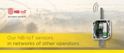 Our NB-IoT sensors in networks of other operators