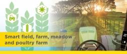 Smart field, farm, meadow and poultry farm