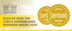 ELKO EP won the Czech Superbrands Business award 2020
