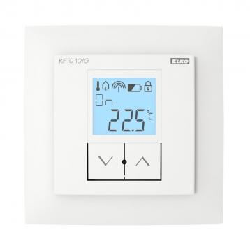 Обикновен безжичен температурен регулатор - RFTC-10/G /Бял