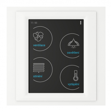Устройство с touch-контрол - RF Touch-W (със Залепяне) /Бял-Светлосив