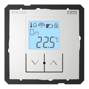 Обикновен безжичен температурен регулатор - RFTC-10/G /Алуминий