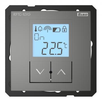 Обикновен безжичен температурен регулатор - RFTC-10/G /Сив
