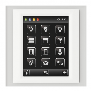 Control unit with touch screen EST3 Glass-Black/White