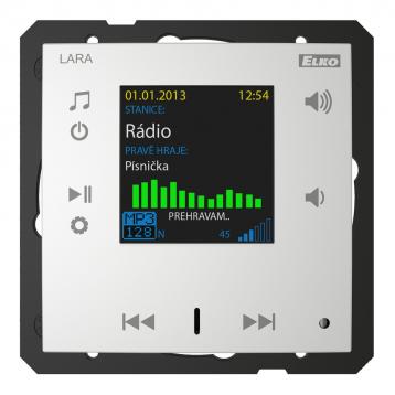 Радио LARA (радио, монтирано в стената) /Алуминий