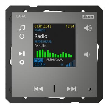 Радио LARA (радио, монтирано в стената) /Сив