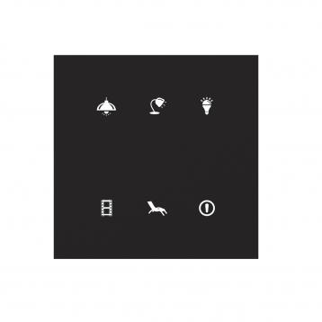 Стъклен бутон със символи GSB3-60/SB