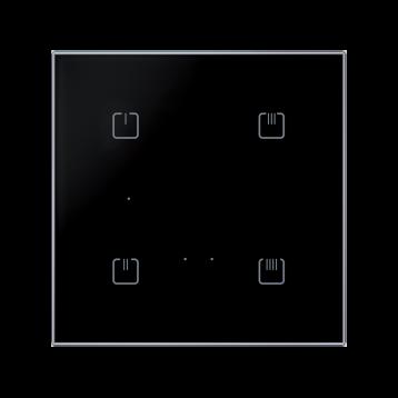 Безжичен стъклен ключ, 4 бутона ЧЕРЕН ОСТЪР RFDW-71/B