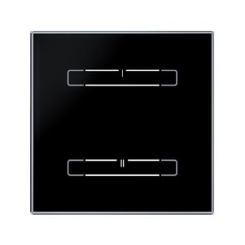 Безжичен стъклен ключ, 2 бутона - ЧЕРЕН ОСТЪР