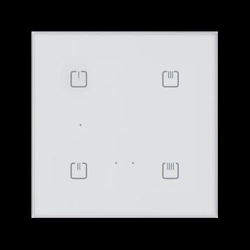 Безжичен стъклен ключ, 4 бутона БЯЛ ОСТЪР RFDW-71/B