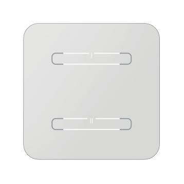 Безжичен стъклен ключ, 2 бутона - БЯЛ ОБЪЛ RFGB-220/W