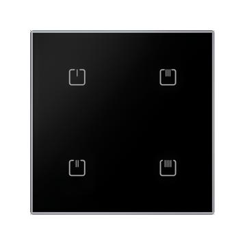 Безжичен стъклен ключ, 2 бутона - БЯЛ ОСТЪР RFGB-40/B