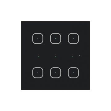 Стъклен стенен контролер GSB3-60 /Черен