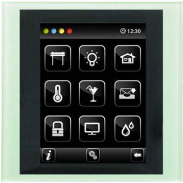 Устройство с touch-контрол - BUS Touch-B (С конзола) /Стъкло-Алуминий