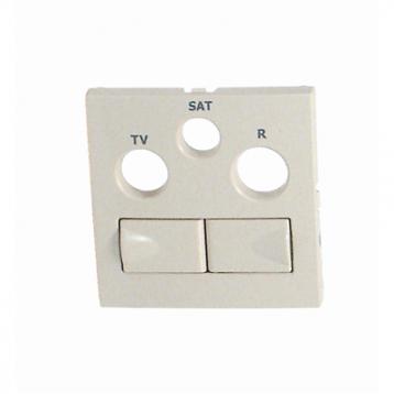 Капачка за R - TV - SAT гнезда - Слонова кост