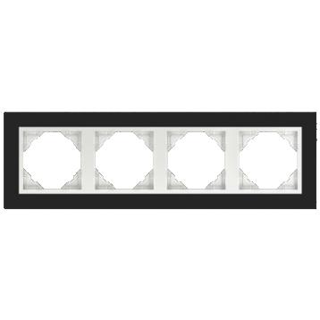 Кристал / Черна-Бяла перла - Четворна рамка