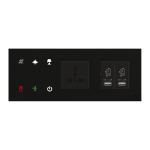 Glass Bedside Panel GBP3-60/Black - Left Option - 2 Frames