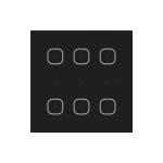 Стъклен четец за карти за стена GMR3-61 /Черен
