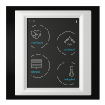 Control touch unit - RF Touch-W (Wall glue) /Black-Aluminum-Ivory