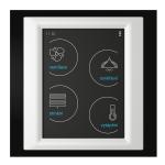 Устройство с touch-контрол - RF Touch-W (със Залепяне) /Черно-Алуминиево-Слонова кост