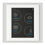 Control touch unit - RF Touch-W (Wall glue) /Glass-White-Light Grey