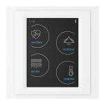 Устройство с touch-контрол - RF Touch-W (със Залепяне) /Стъкло-Перлено-Бяло