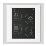 Устройство с touch-контрол - RF Touch-W (със Залепяне) /Стъкло-Бяло-Слонова кост