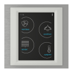 Control touch unit - RF Touch-W (Wall glue) /Titan-Ice-White