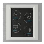 Устройство с touch-контрол - RF Touch-W (със Залепяне) /Титан-Лед-Бяло