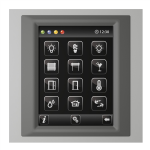 Control unit with touch screen EST3 Aluminum/Metallic Grey