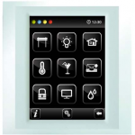 Control unit with touch screen EST3 White/Pearly