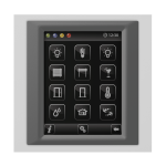 Control unit with touch screen EST3 Glass/Dark Grey