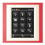 Control unit with touch screen EST3 Red/Pearly
