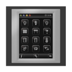 Control unit with touch screen EST3 Glass-Black/Metallic Grey