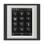 Control unit with touch screen EST3 Glass-Black/Ice