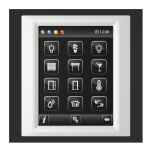 Control unit with touch screen EST3 Nickel/Aluminum