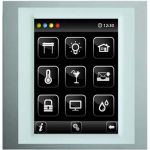 Control unit with touch screen EST3 Aluminum/White