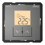 Digital room thermo-regulator IDRT3-1 /Grey