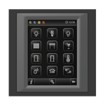 Control unit with touch screen EST3 Glass-Black/Dark Grey