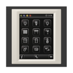 Control unit with touch screen EST3 Glass-Black/Pearly