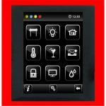 Control unit with touch screen EST3 Red/Metallic Grey