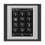 Control unit with touch screen EST3 Glass-Black/Aluminum