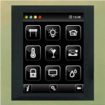 Control unit with touch screen EST3 Titanium-Aluminum