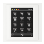 Control unit with touch screen EST3 White/White