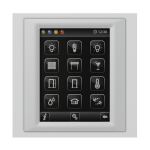 Control unit with touch screen EST3 Glass/Aluminum